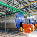 7MW WNS gas-fired hot water boiler project for Yinlang ranch