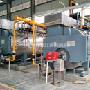 4 tph WNS oil-fired fire tube boiler project for construction industry